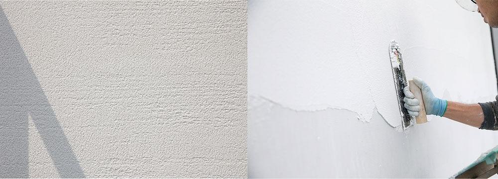 職人の手仕事による表情豊かな塗壁が、オンリーワンの特別感を演出。継目のない一体感のある外壁は、家の品格をあげます。