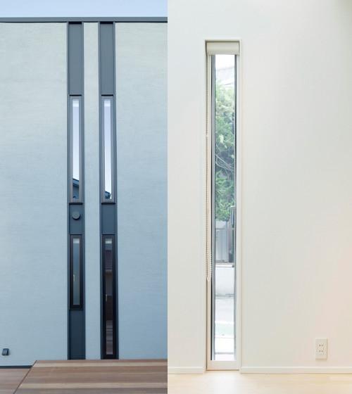 幅12.2センチで人が侵入できず、防犯性に優れた窓