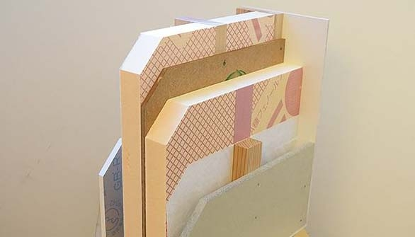 1.5倍の厚さで高い断熱性能を誇る壁